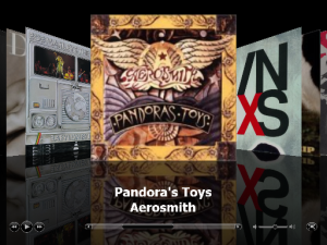 iTunes Cover Flow Pandora's Toys Aerosmith